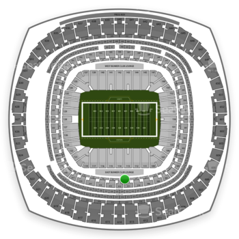 New Orleans Saints at Mercedes-Benz Superdome Section 221 View