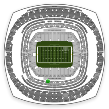 New Orleans Saints at Mercedes-Benz Superdome Section 225 View