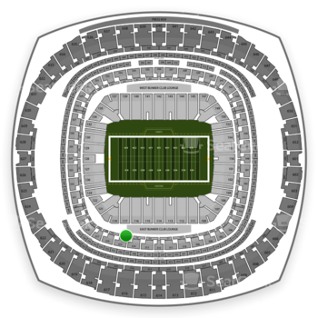 New Orleans Saints at Mercedes-Benz Superdome Section 227 View