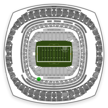 New Orleans Saints at Mercedes-Benz Superdome Section 229 View