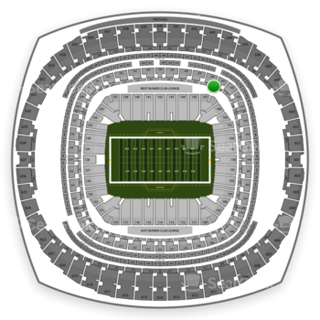 New Orleans Saints at Mercedes-Benz Superdome Section 272 View
