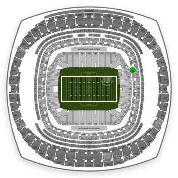 New Orleans Saints at Mercedes-Benz Superdome Section 279 View