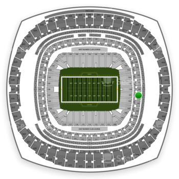 New Orleans Saints at Mercedes-Benz Superdome Section 301 View