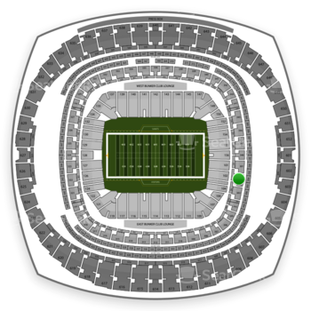New Orleans Saints at Mercedes-Benz Superdome Section 302 View