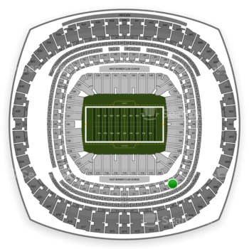 New Orleans Saints at Mercedes-Benz Superdome Section 307 View