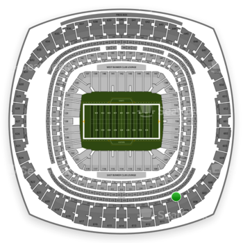 New Orleans Saints at Mercedes-Benz Superdome Section 507 View