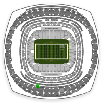 New Orleans Saints at Mercedes-Benz Superdome Section 521 View