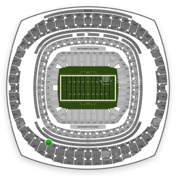 New Orleans Saints at Mercedes-Benz Superdome Section 524 View