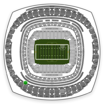 New Orleans Saints at Mercedes-Benz Superdome Section 525 View