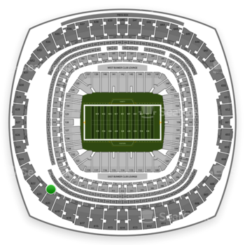 New Orleans Saints at Mercedes-Benz Superdome Section 526 View