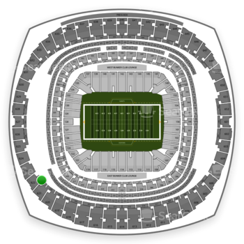 New Orleans Saints at Mercedes-Benz Superdome Section 527 View