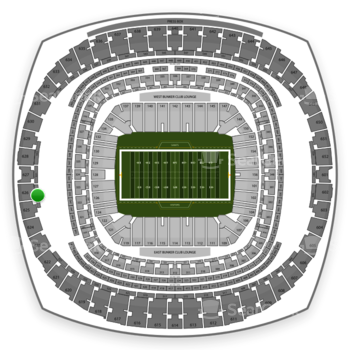 New Orleans Saints at Mercedes-Benz Superdome Section 529 View
