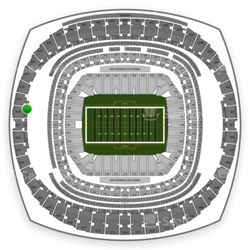 New Orleans Saints at Mercedes-Benz Superdome Section 533 View