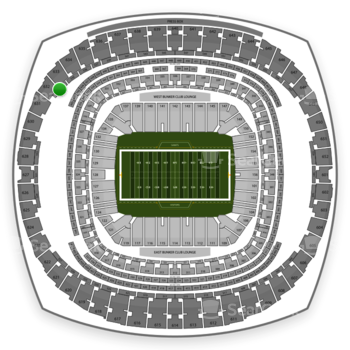 New Orleans Saints at Mercedes-Benz Superdome Section 534 View
