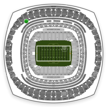 New Orleans Saints at Mercedes-Benz Superdome Section 536 View