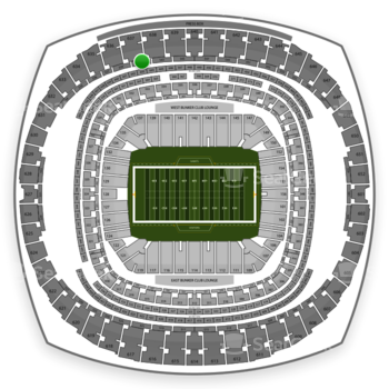 New Orleans Saints at Mercedes-Benz Superdome Section 541 View
