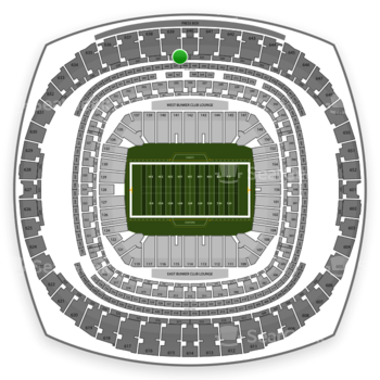 New Orleans Saints at Mercedes-Benz Superdome Section 545 View