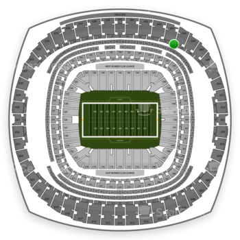 New Orleans Saints at Mercedes-Benz Superdome Section 554 View