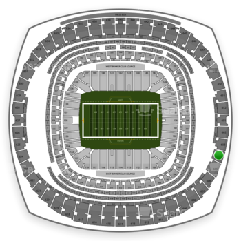 New Orleans Saints at Mercedes-Benz Superdome Section 604 View