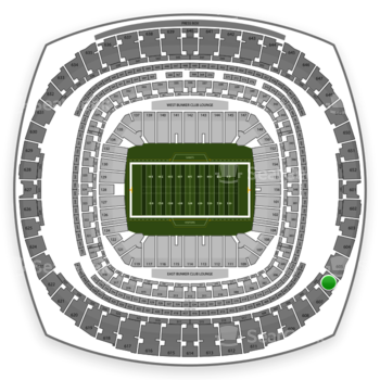 New Orleans Saints at Mercedes-Benz Superdome Section 606 View