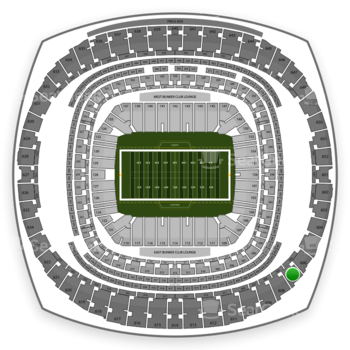 New Orleans Saints at Mercedes-Benz Superdome Section 607 View