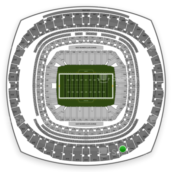New Orleans Saints at Mercedes-Benz Superdome Section 610 View