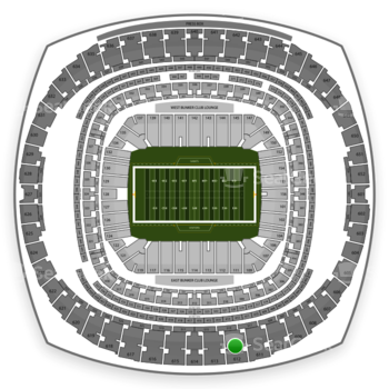 New Orleans Saints at Mercedes-Benz Superdome Section 612 View