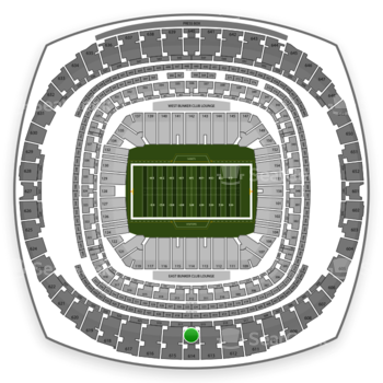 New Orleans Saints at Mercedes-Benz Superdome Section 614 View