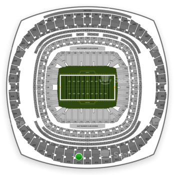 New Orleans Saints at Mercedes-Benz Superdome Section 615 View