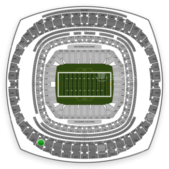 New Orleans Saints at Mercedes-Benz Superdome Section 619 View