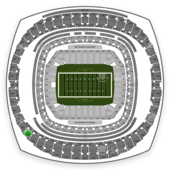 New Orleans Saints at Mercedes-Benz Superdome Section 621 View