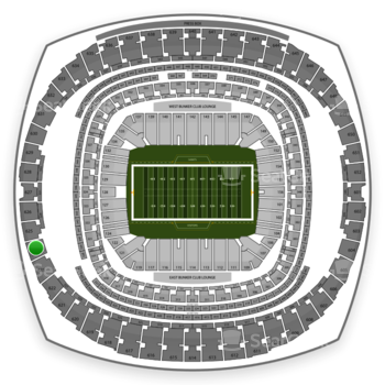 New Orleans Saints at Mercedes-Benz Superdome Section 624 View