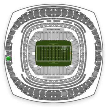New Orleans Saints at Mercedes-Benz Superdome Section 626 View