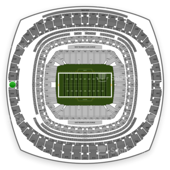 New Orleans Saints at Mercedes-Benz Superdome Section 627 View