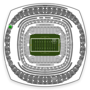 New Orleans Saints at Mercedes-Benz Superdome Section 631 View