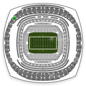 New Orleans Saints at Mercedes-Benz Superdome Section 633 View