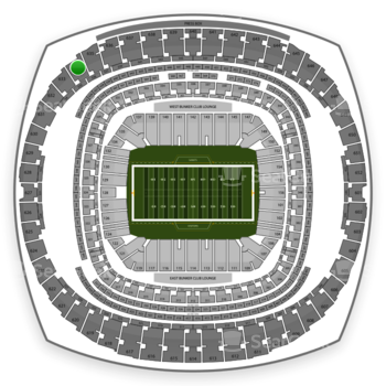 New Orleans Saints at Mercedes-Benz Superdome Section 634 View
