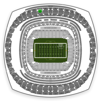 New Orleans Saints at Mercedes-Benz Superdome Section 638 View
