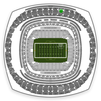 New Orleans Saints at Mercedes-Benz Superdome Section 642 View