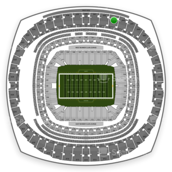 New Orleans Saints at Mercedes-Benz Superdome Section 643 View