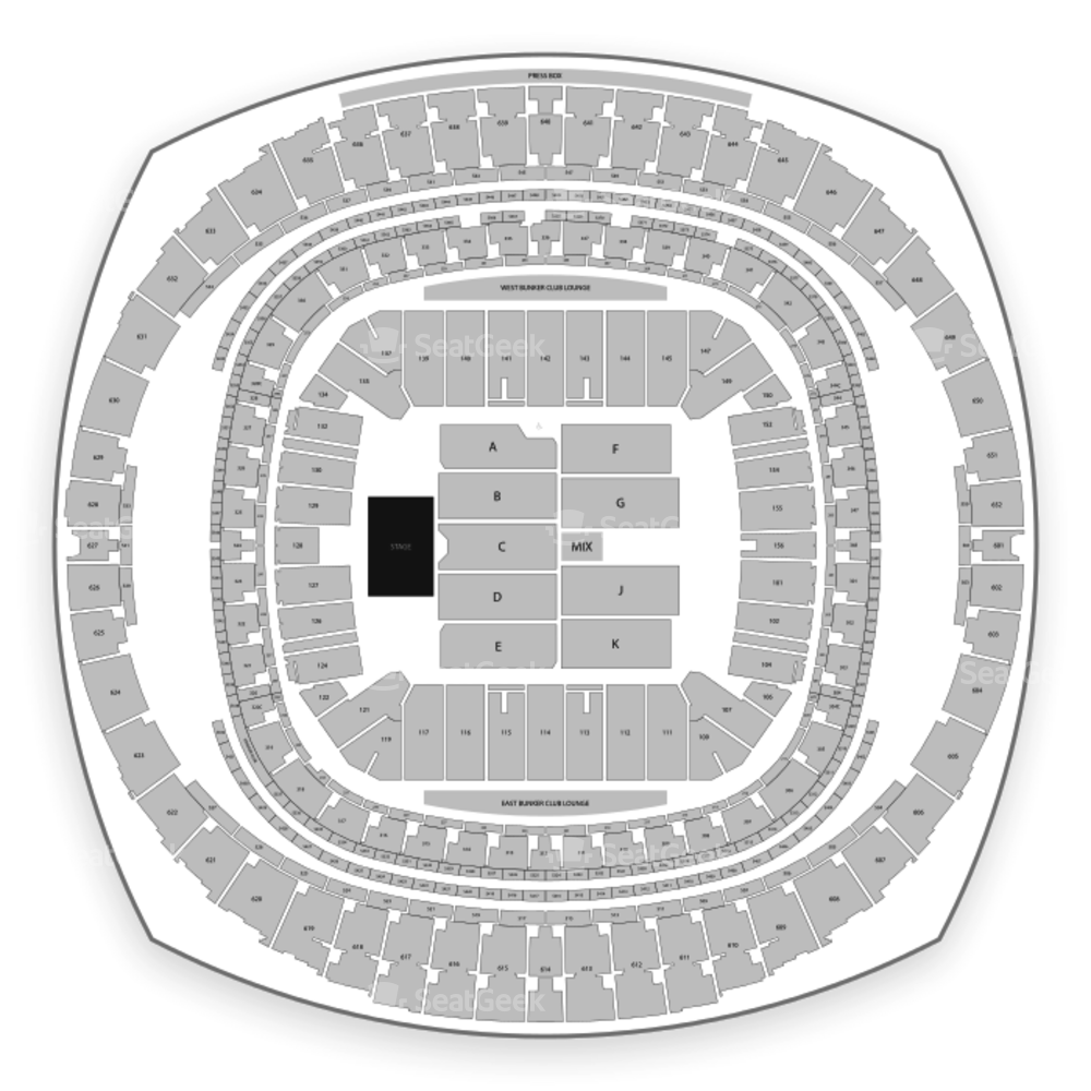 Mercedes Benz Superdome Seating Chart Concert