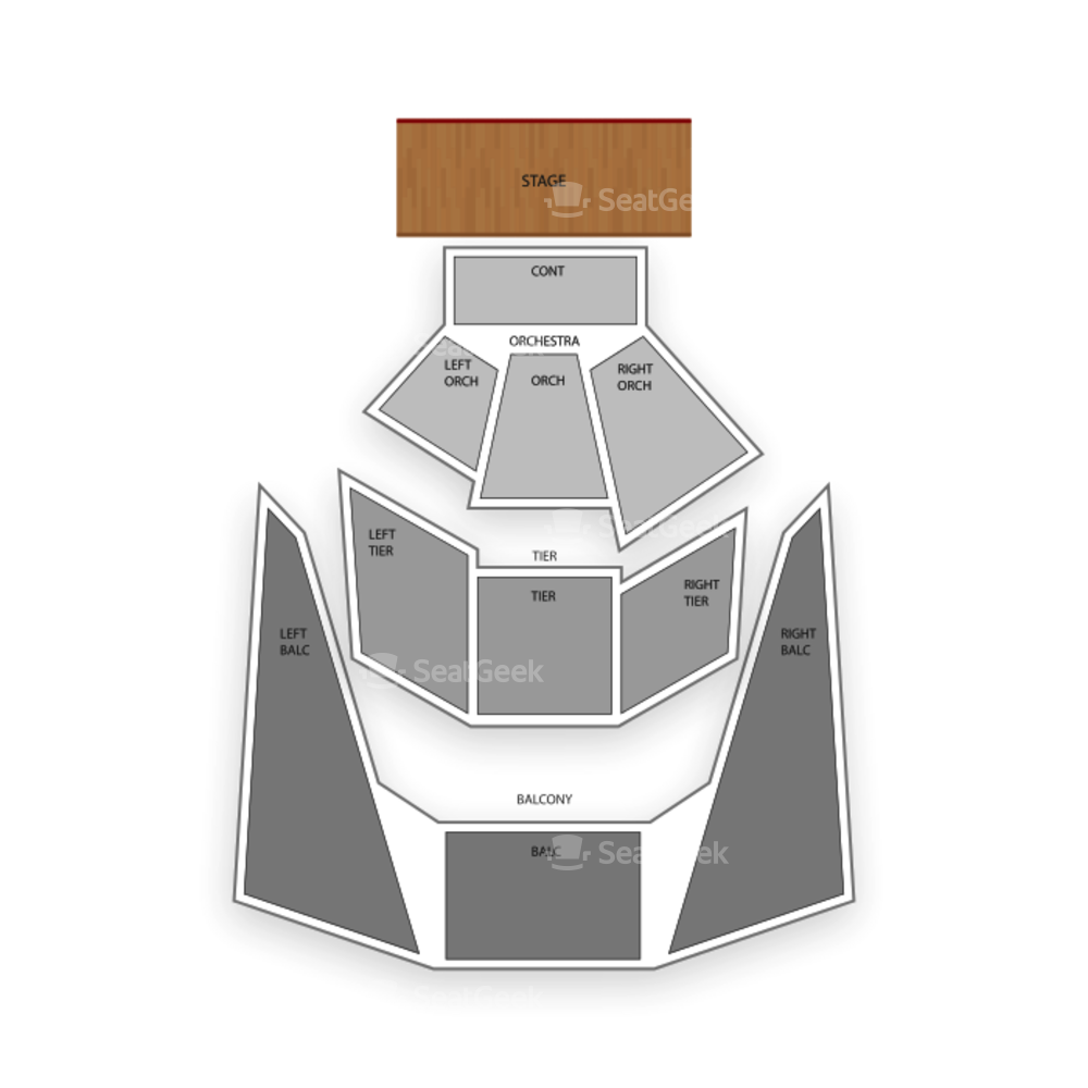 BJCC Concert Hall Seating Chart Concert