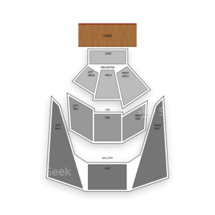 BJCC Concert Hall Seating Chart Theater