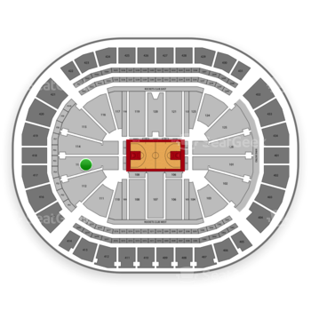 Houston Rockets at Toyota Center Section 113 View