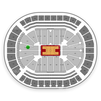 Houston Rockets at Toyota Center Section 114 View