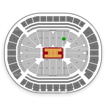 Houston Rockets at Toyota Center Section 122 View