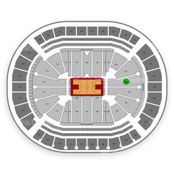 Houston Rockets at Toyota Center Section 126 View