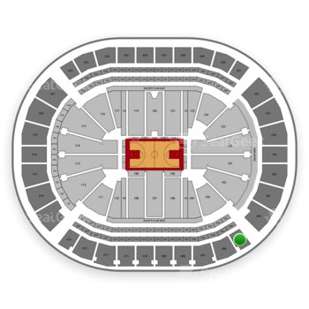 Houston Rockets at Toyota Center Section 405 View