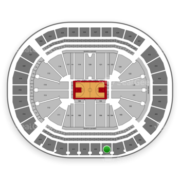 Houston Rockets at Toyota Center Section 408 View
