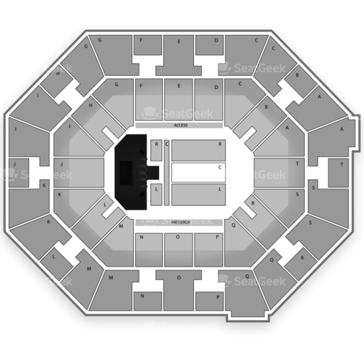 UNO Lakefront Arena Seating Chart
